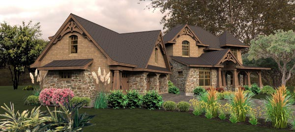 Craftsman, Tuscan House Plan 65880 with 4 Beds, 4 Baths, 3 Car Garage Picture 7