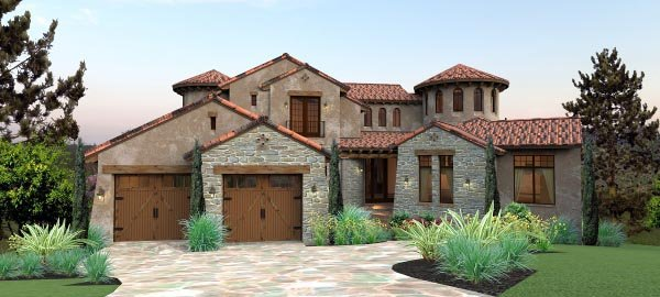 House plan 65881 at for Italian home plans