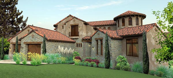 Italian mediterranean tuscan house plan 65881 for Tuscan farmhouse plans