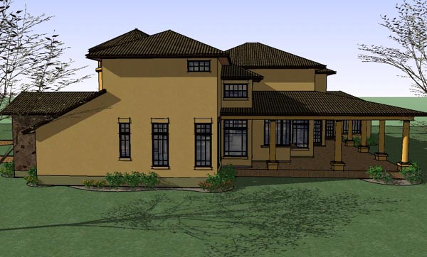 Italian, Mediterranean, Traditional House Plan 65882 with 5 Beds, 6 Baths, 3 Car Garage Picture 2