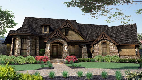 Craftsman Tuscan House Plan 65888 Elevation