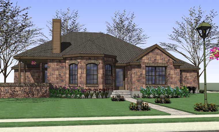Coastal Country Traditional House Plan 65891 Elevation