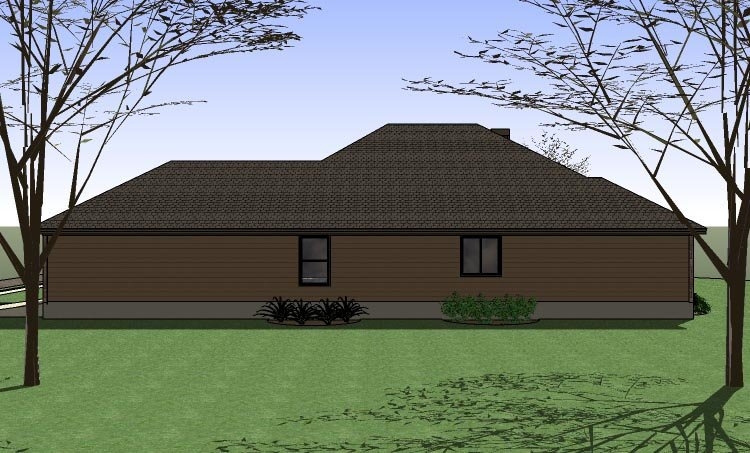 Coastal Country Traditional House Plan 65891 Rear Elevation