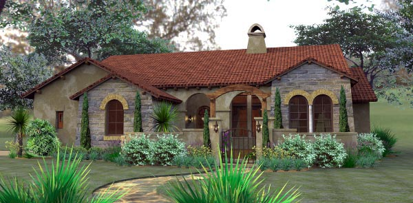 House plan 65893 order code fb101 at for Mediterranean cottage style