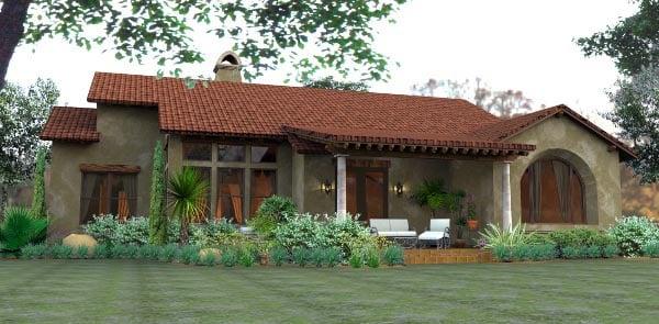 Cottage European Mediterranean Tuscan House Plan 65893 Rear Elevation