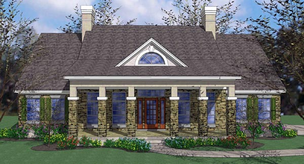 Colonial Traditional House Plan 65894 Elevation