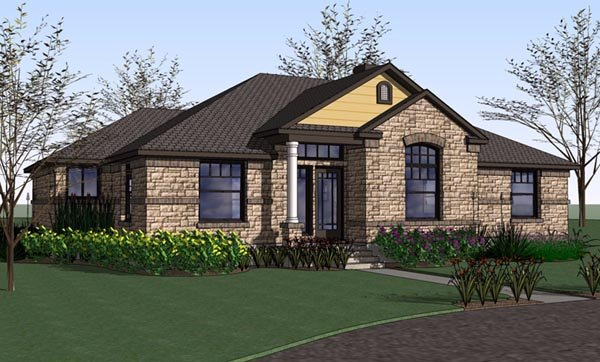 Country Southern Traditional House Plan 65897 Elevation