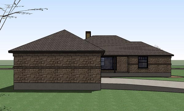 Country Southern Traditional House Plan 65897 Rear Elevation