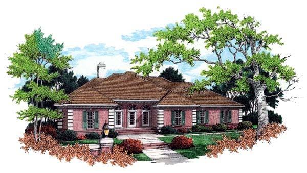 European House Plan 65902 Elevation