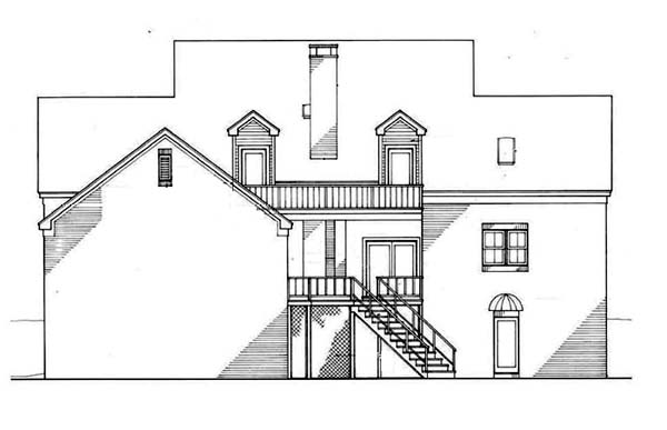 Farmhouse House Plan 65906 Rear Elevation