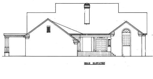 Country House Plan 65911 Rear Elevation