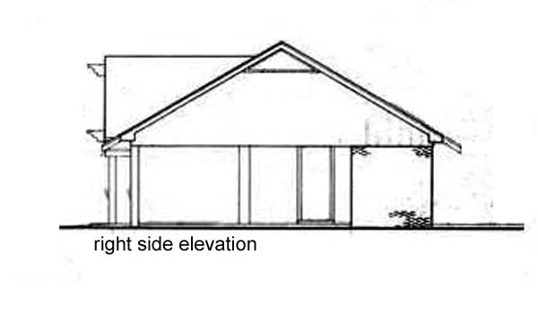 One-Story, Tudor House Plan 65915 with 3 Beds, 1 Car Garage Picture 2