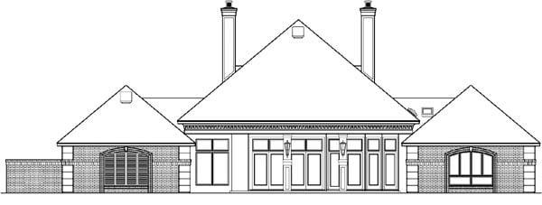 House Plan 65918 Rear Elevation