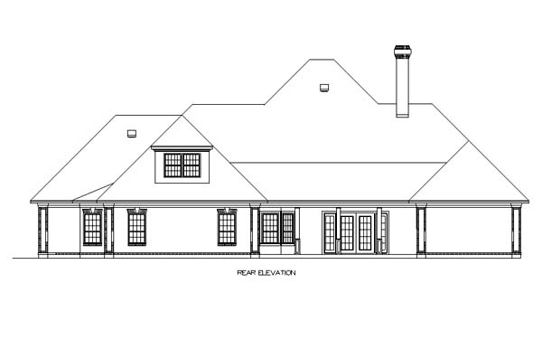 House Plan 65931 Rear Elevation