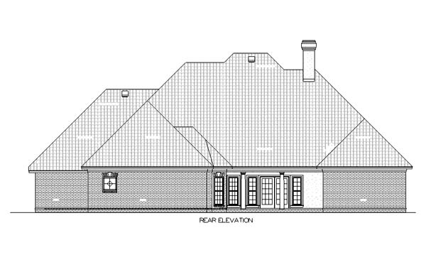 House Plan 65932 Rear Elevation