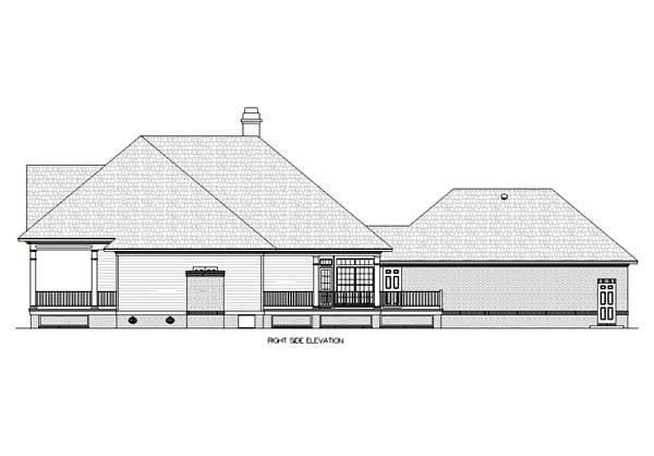 House Plan 65943 Rear Elevation