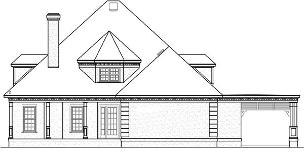 Traditional House Plan 65956 Rear Elevation