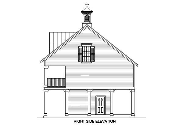 Coastal House Plan 65957 with 3 Beds, 3 Baths, 1 Car Garage Picture 2