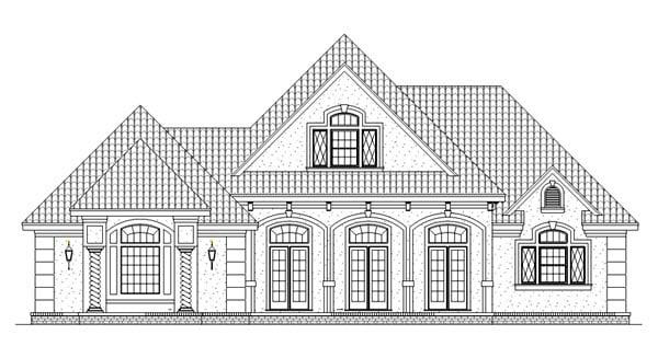 European, Mediterranean House Plan 65964 with 3 Beds, 3 Baths, 2 Car Garage Picture 3