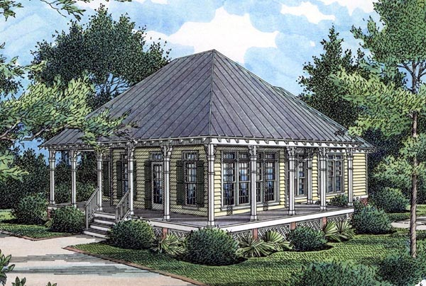 House Plan at FamilyHomePlans comCottage Country Southern House Plan Elevation