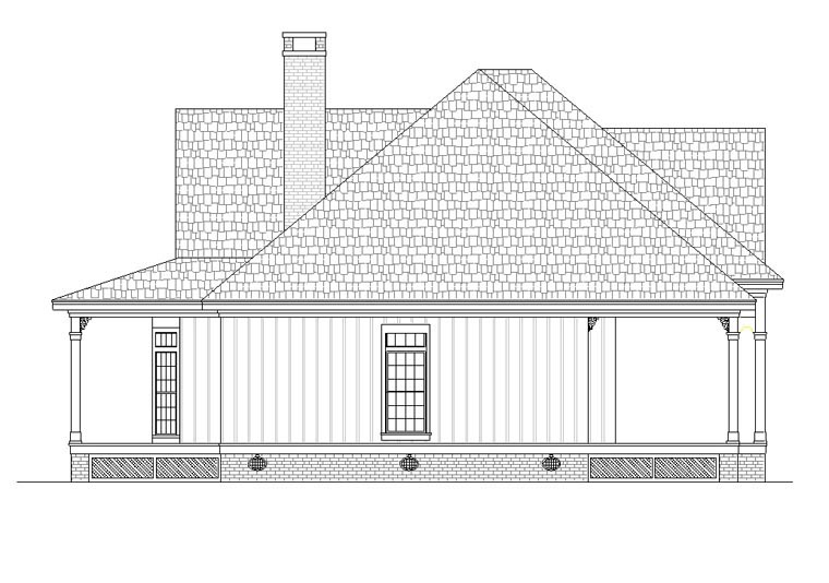 Cottage, Southern House Plan 65988 with 3 Beds, 3 Baths Picture 1