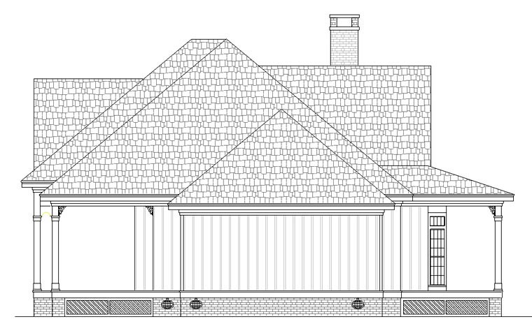 Cottage, Southern House Plan 65988 with 3 Beds, 3 Baths Picture 2