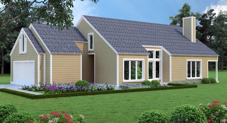 House Plan 65993 Elevation