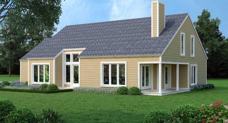 House Plan 65993 Rear Elevation