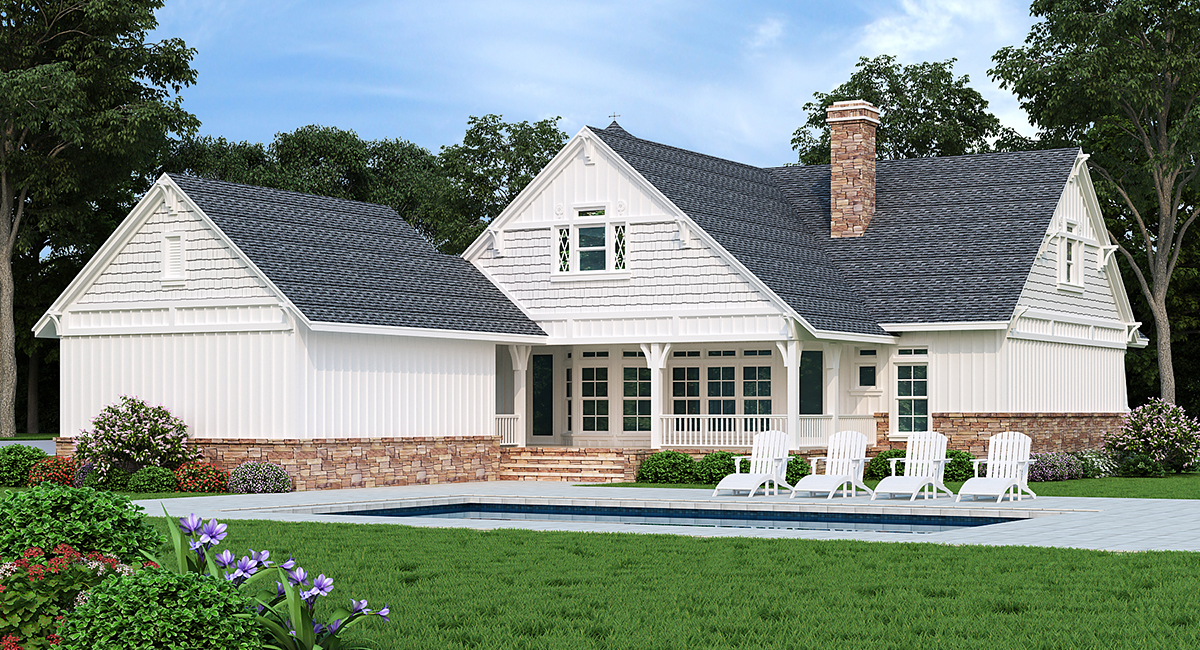 House Plan 65999 Rear Elevation