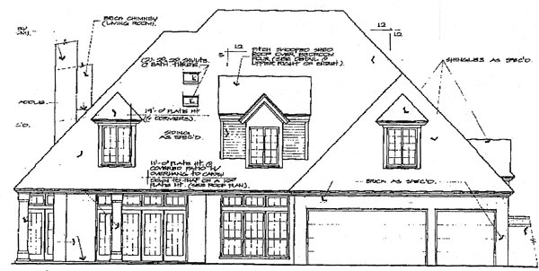 European French Country House Plan 66003 Rear Elevation