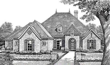 Traditional Elevation of Plan 66016