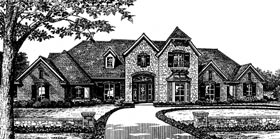French Country, Traditional House Plan 66029 with 4 Beds, 4 Baths, 3 Car Garage Elevation