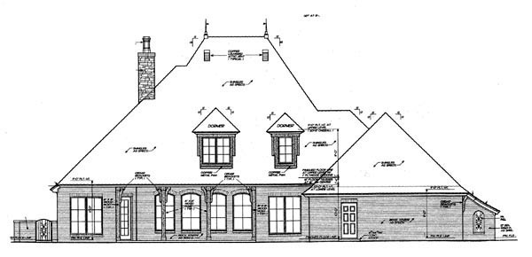 French Country House Plan 66059 Rear Elevation