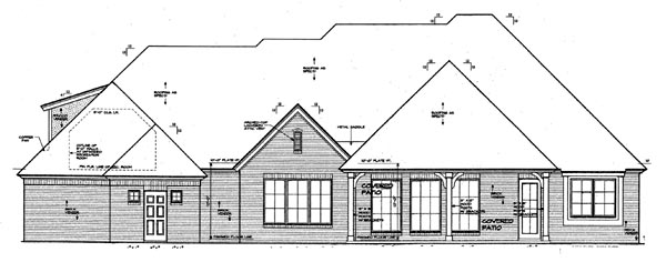 House Plan 66061 Rear Elevation
