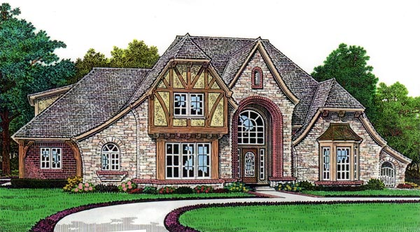 French Country House Plan 66063 Elevation