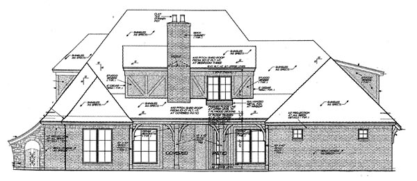 French Country House Plan 66063 Rear Elevation