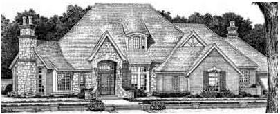 European French Country Tudor House Plan 66069 Elevation