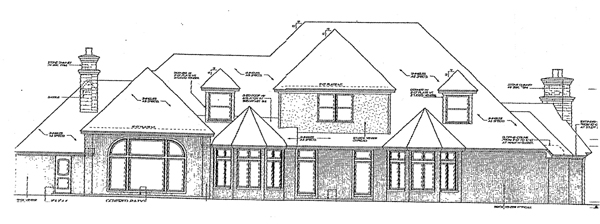 European French Country Tudor House Plan 66069 Rear Elevation