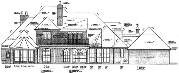 French Country Tudor House Plan 66086 Rear Elevation