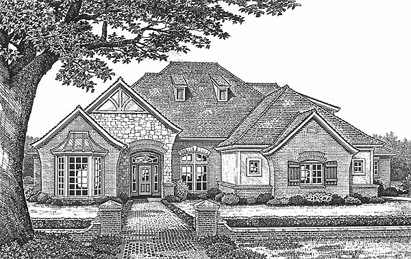 European Tudor House Plan 66092 Elevation
