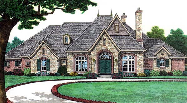 House plan 66115 for European country house plans