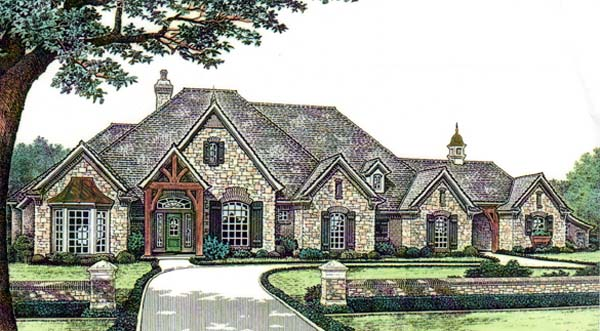 House plan 66125 at for French tudor house plans