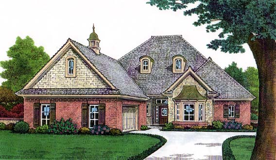 Elevation of House Plan 66131