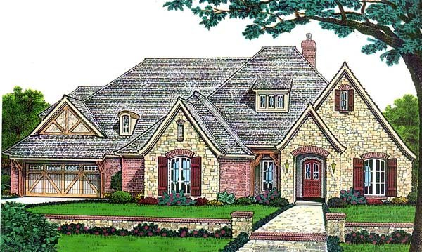 French Country Traditional House Plan 66142 Elevation