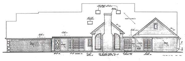 Farmhouse French Country House Plan 66167 Rear Elevation