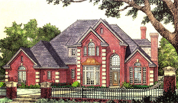 French Country, Victorian House Plan 66175 with 4 Beds, 4 Baths, 3 Car Garage Elevation