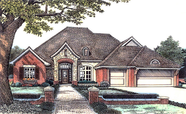 Traditional House Plan 66177 Elevation