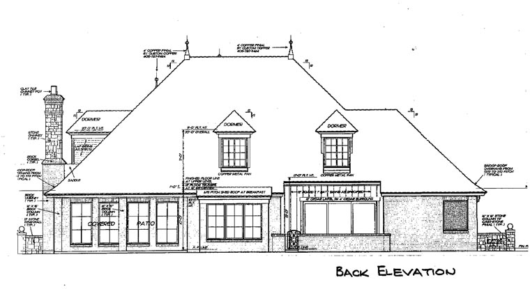 French Country Victorian House Plan 66193 Rear Elevation