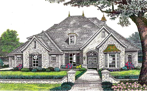 Country French Country House Plan 66201 Elevation