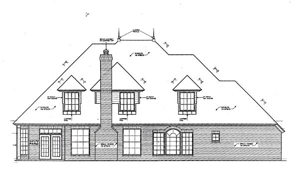 Country French Country House Plan 66201 Rear Elevation